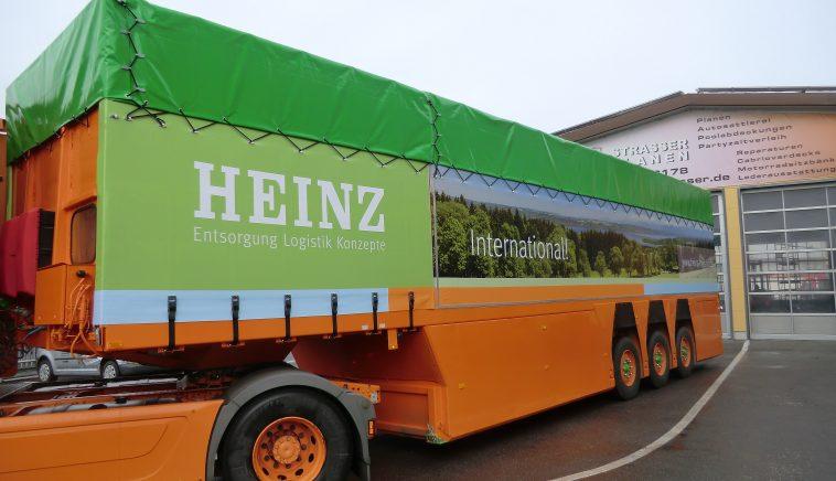 LKW Plane mit Digitaldruck für LKW-Anhänger mit Sonderaufbau Gabelstaplertransport