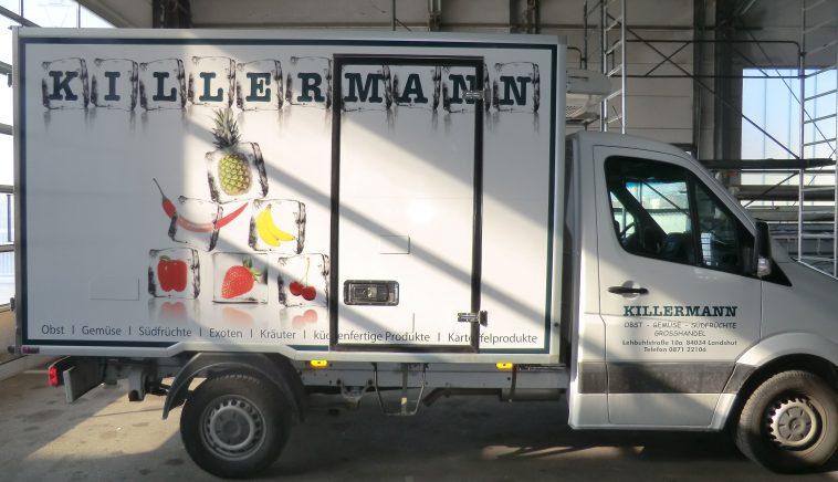 Fahrzeugbeschriftung gewerblicher Fahrzeuge