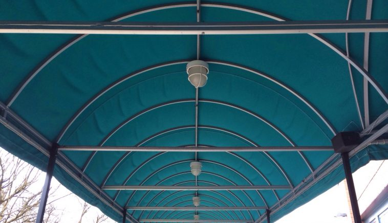 Awning over a walkway